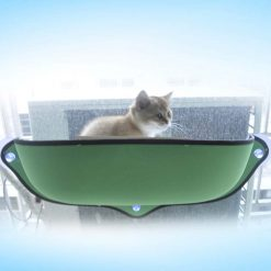 Hamac à ventouses pour chat - Vert