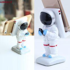 Support astronaute en Résine pour mobile