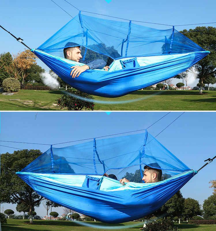 hamac avec moustiquaire pour 2 personnes 260x130cm fify. Black Bedroom Furniture Sets. Home Design Ideas